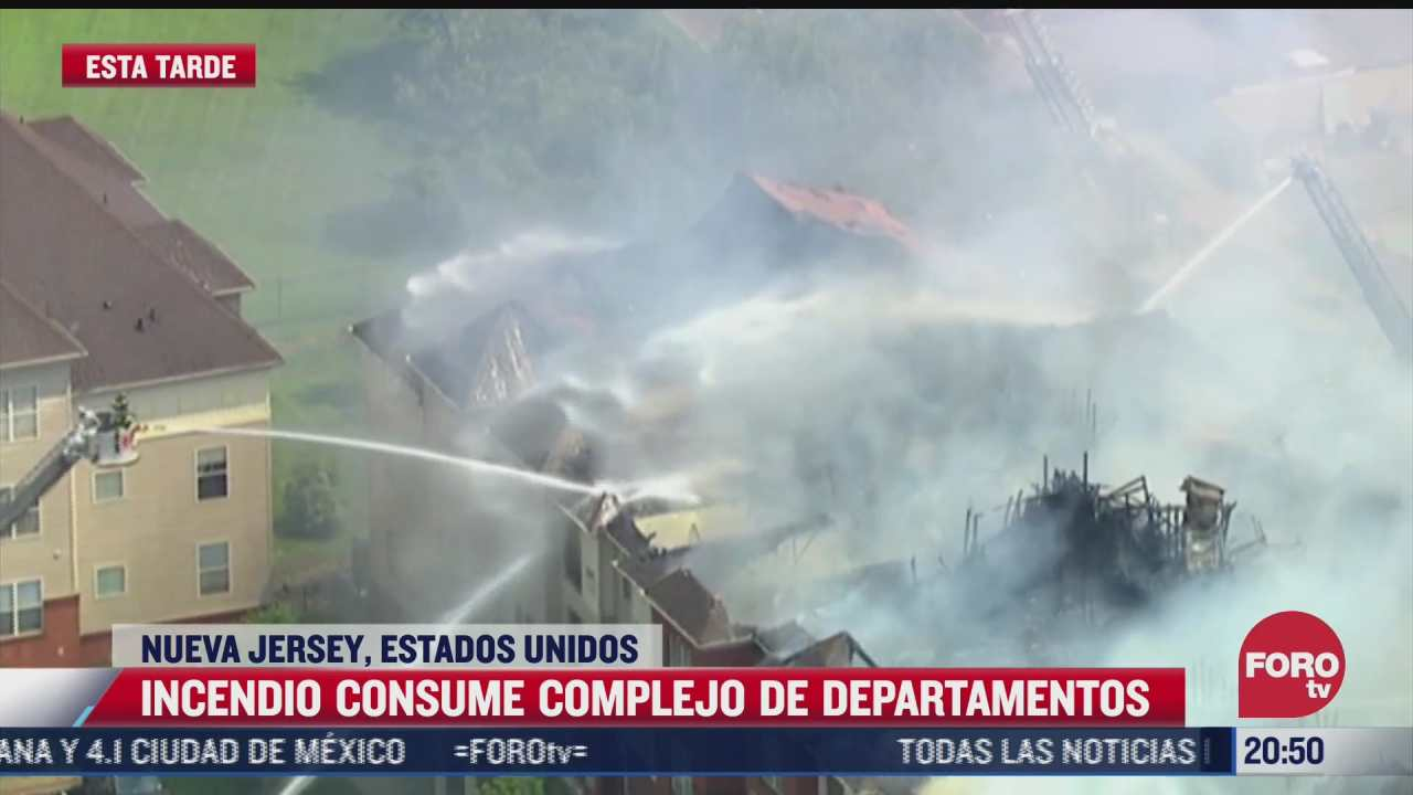 video incendio consume edificio de departamentos en nueva jersey