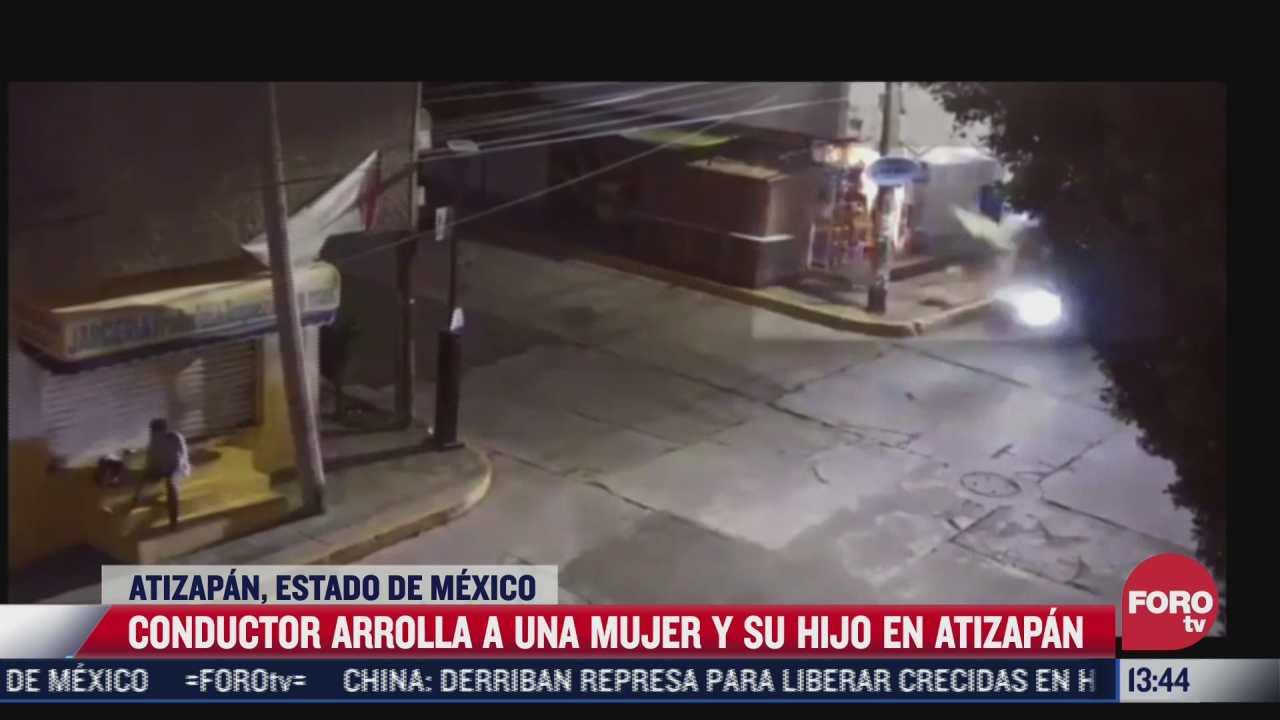 video joven en estado de ebriedad atropella a mujer y su hijo en atizapan
