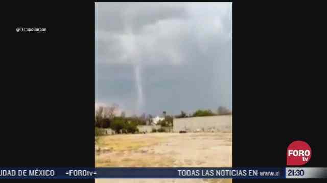 video se forma tornado en monclova