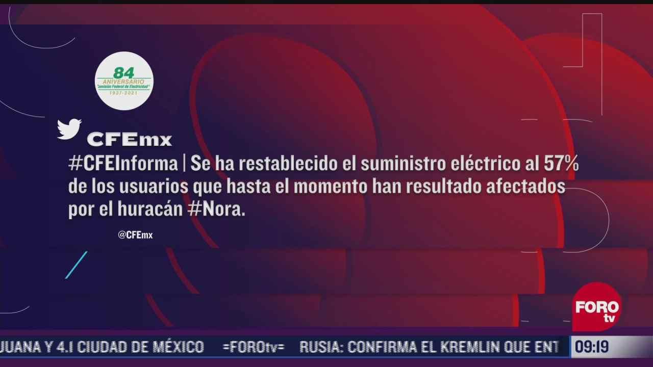 cfe restablece servicio a 57 de usuarios afectados en michoacan colima y jalisco