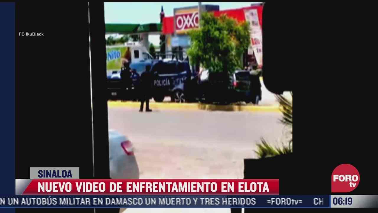 difunden nuevo video de enfrentamiento entre policias y sujetos armados en sinaloa