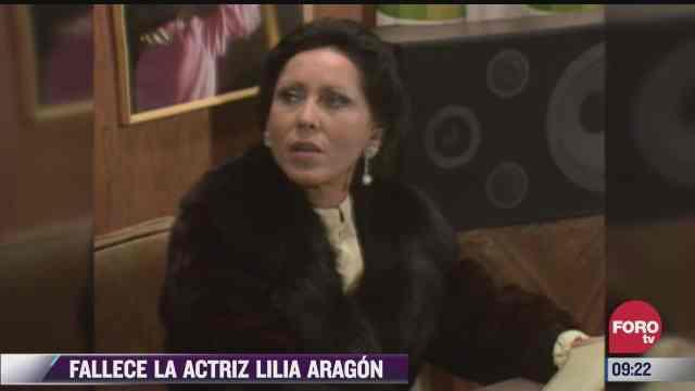 espectaculosenexpreso fallece la actriz lilia aragon