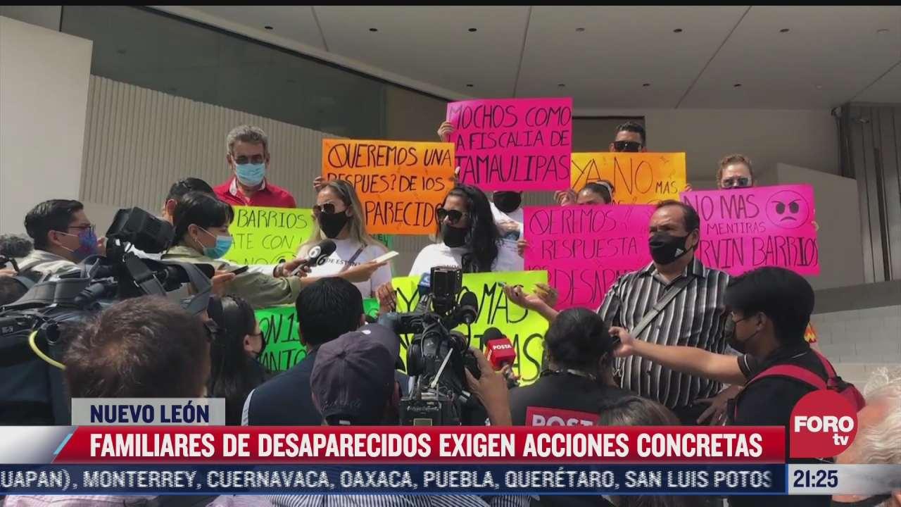 familiares de desaparecidos en carretera monterrey nuevo laredo exigen justicia