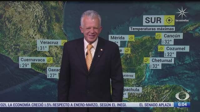 preven lluvias fuertes con caida de granizo en mexico