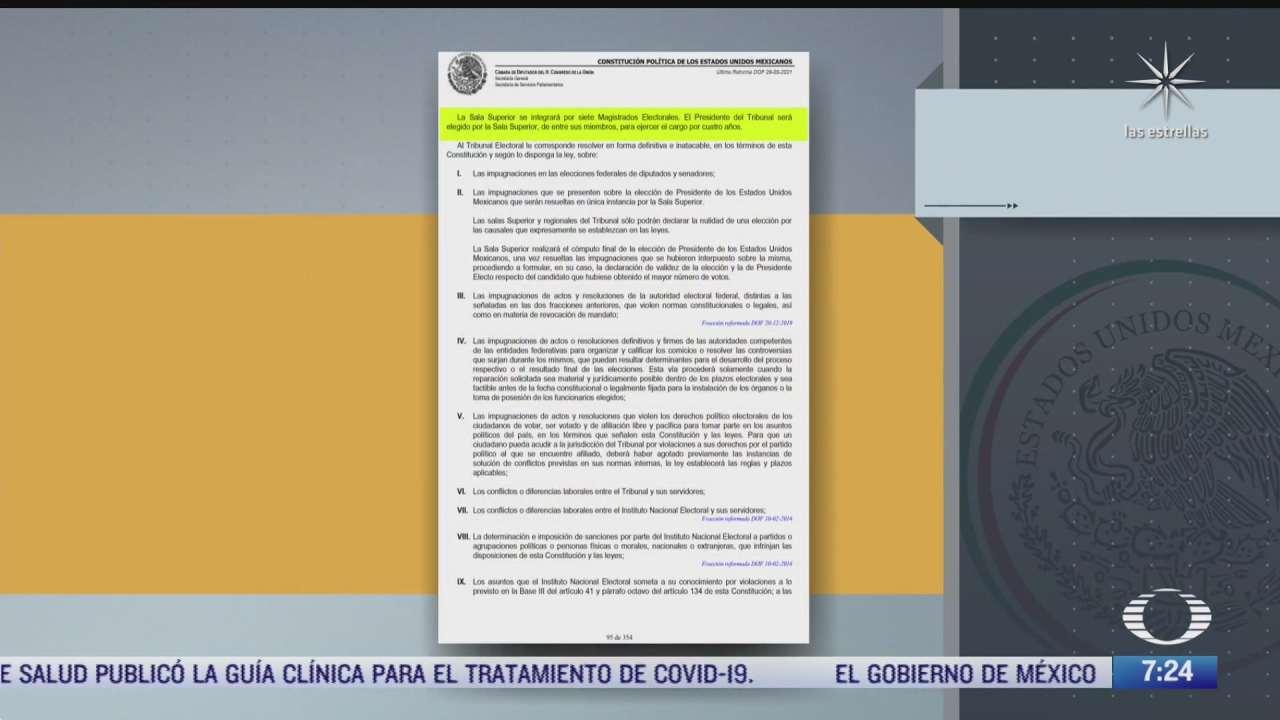 que dice la ley sobre la destitucion de un presidente del tepjf