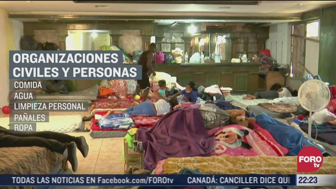 300 migrantes se encuentran en refugio de ciudad acuna