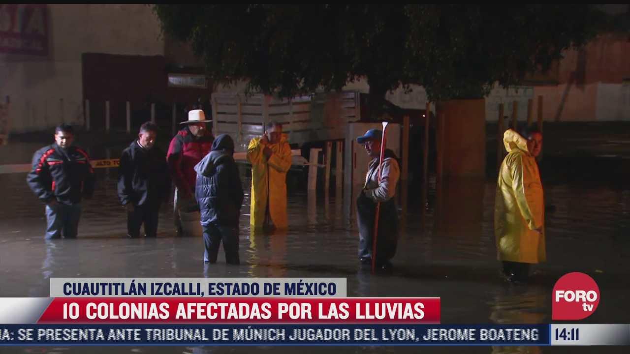 al menos 10 colonias resultaron afectadas por las inundaciones en cuautitlan izcalli
