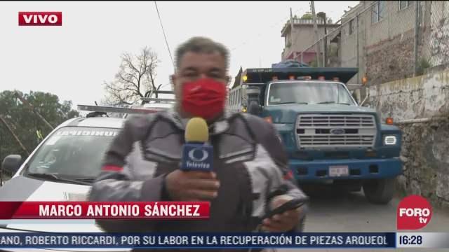 alistan labores de demolicion de inmuebles en el chiquihuite