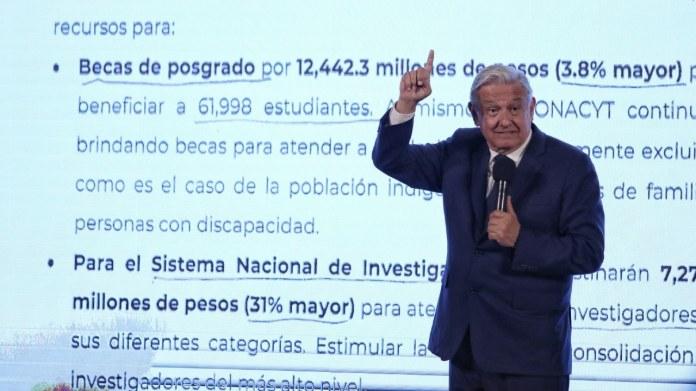 Presupuesto de Conacyt aumentará 11.26% en 2022: AMLO – Noticieros Televisa