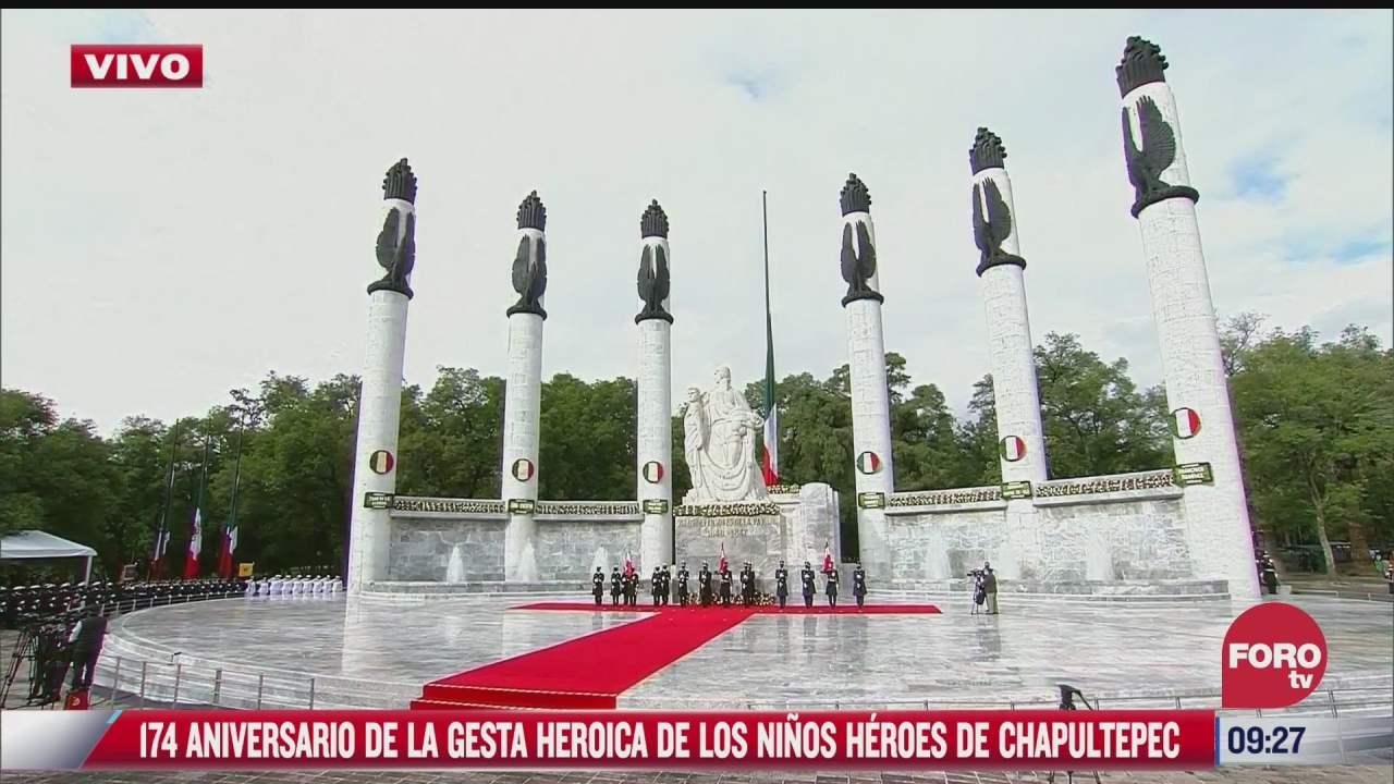 amlo encabeza 174 aniversario de la gesta heroica de los ninos heroes de chapultepec