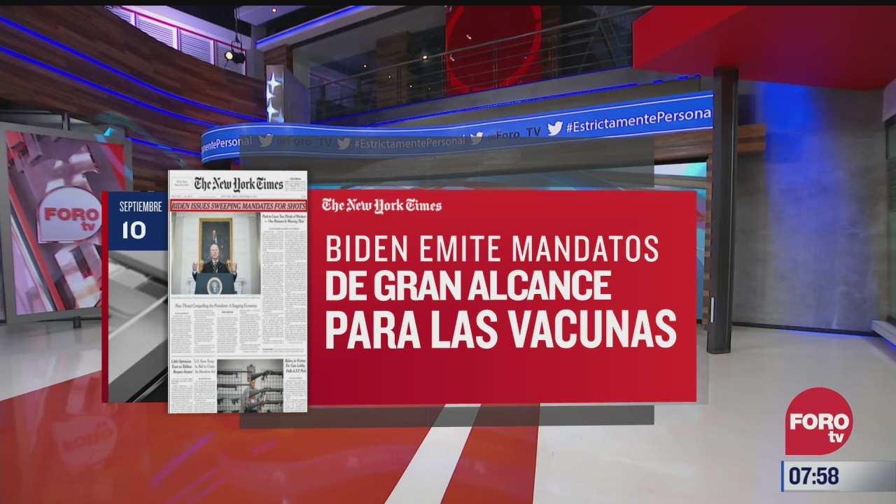 analisis de las portadas nacionales e internacionales del 10 de septiembre del