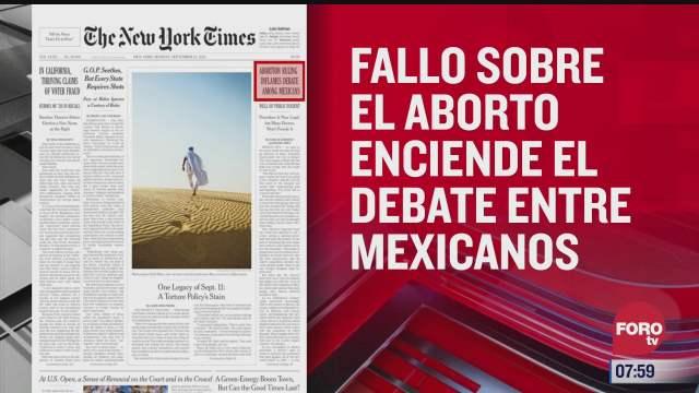 analisis de las portadas nacionales e internacionales del 13 de septiembre del