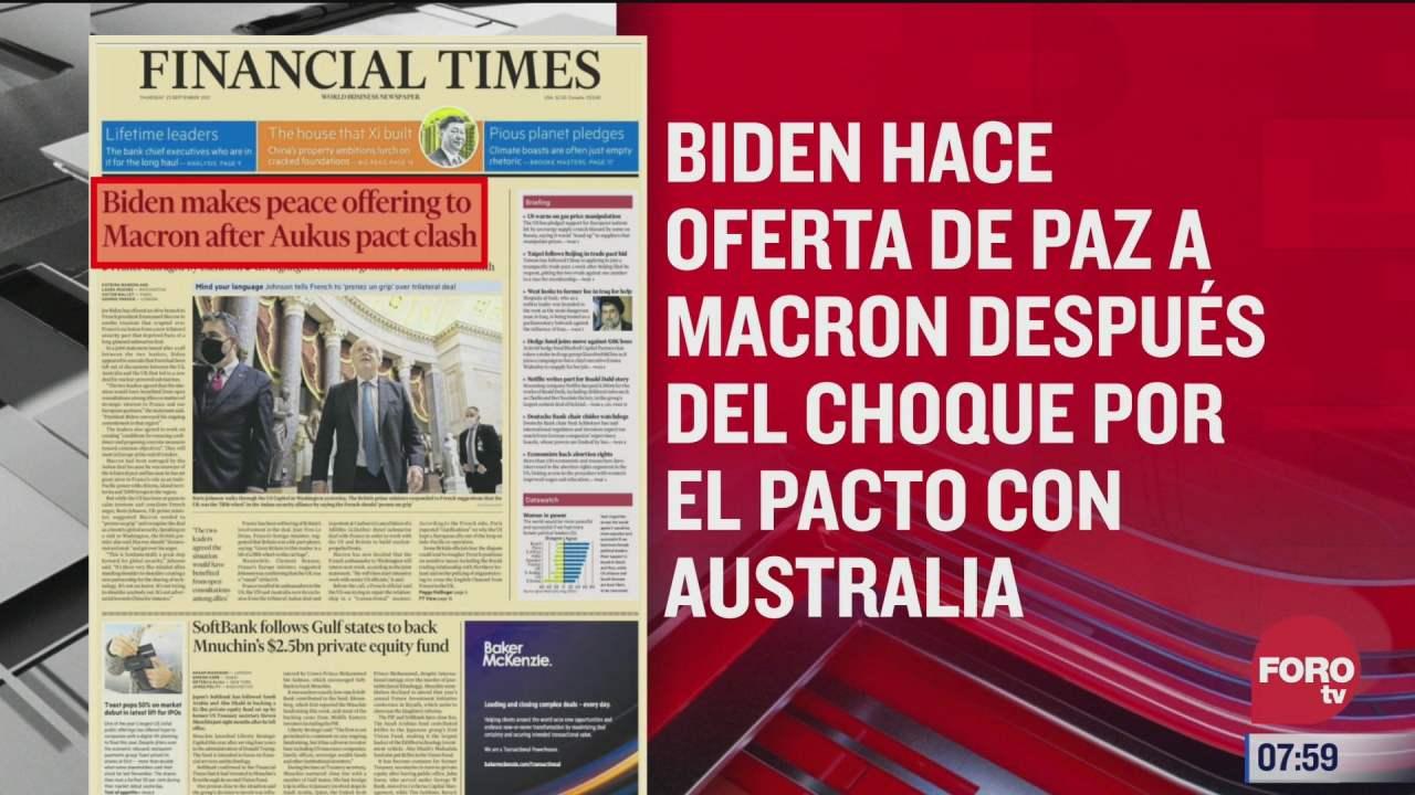 analisis de las portadas nacionales e internacionales del 23 de septiembre del