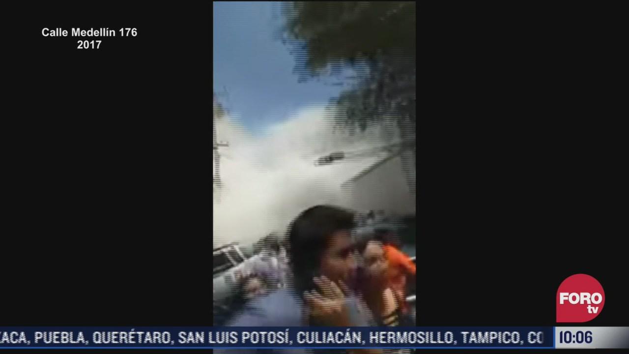 asi colapso edificio en la colonia roma por sismo de