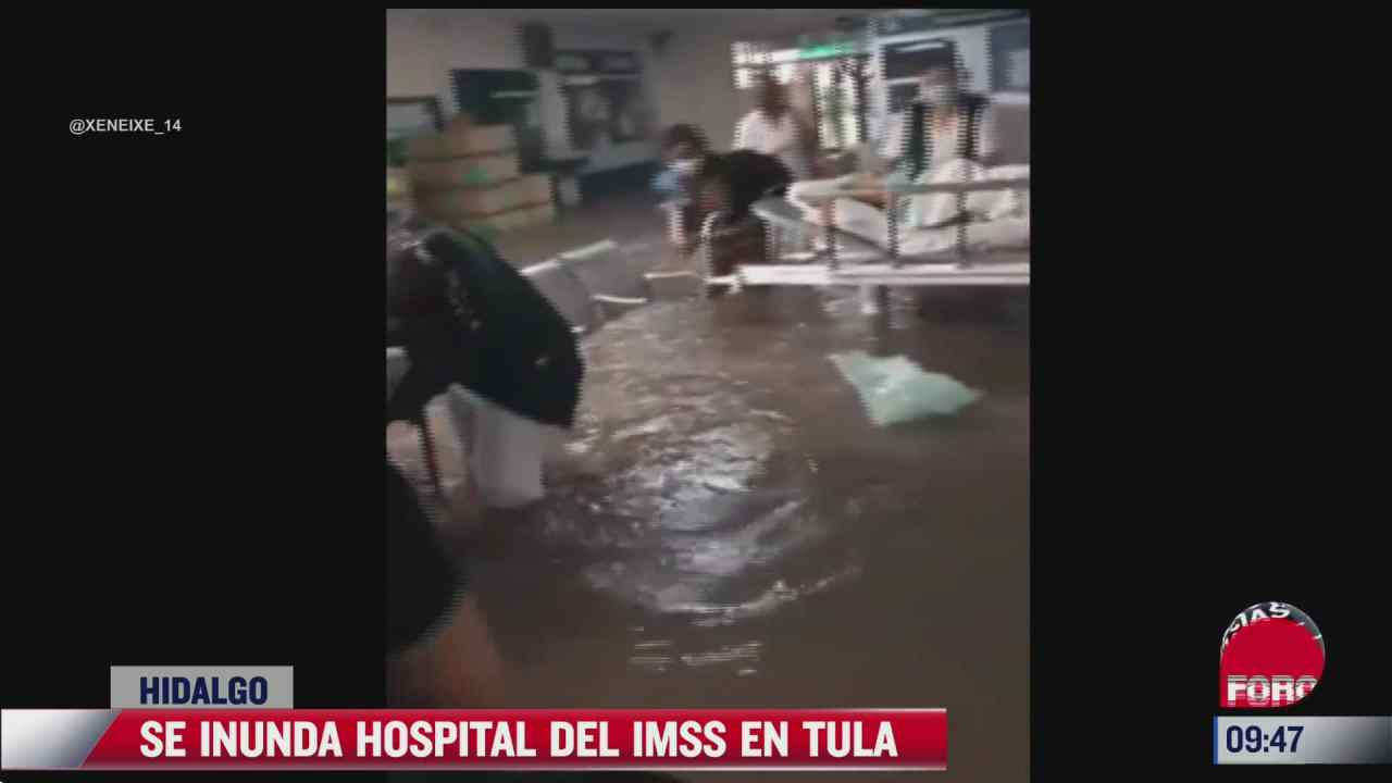 asi quedo el hospital del imss tras las inundaciones en tula