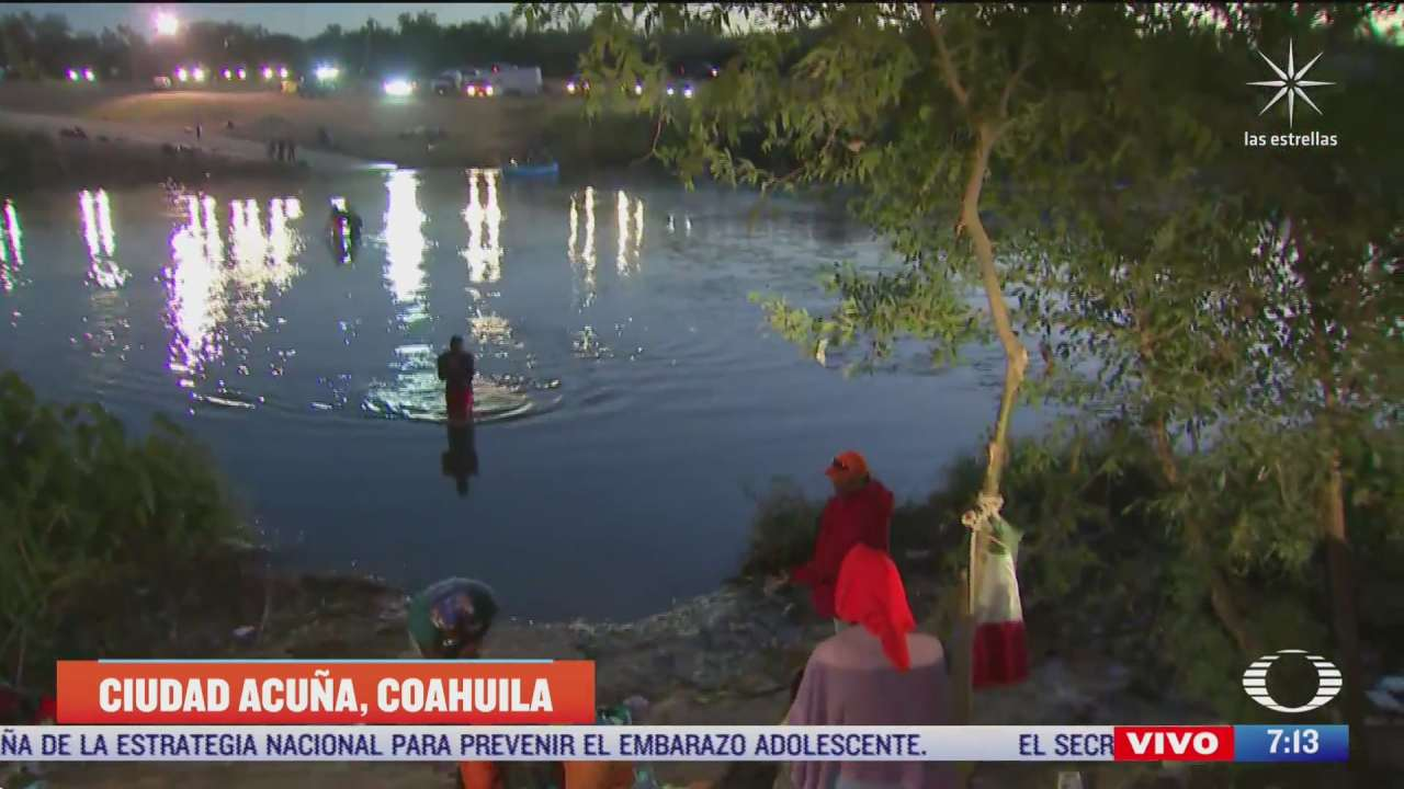 autoridades mexicanas dejan pasar a un grupo de haitianos hacia eeuu