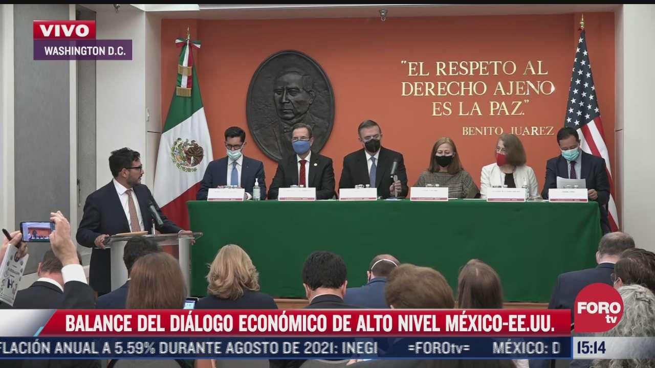 balance del dialogo economico de alto nivel entre mexico eeuu