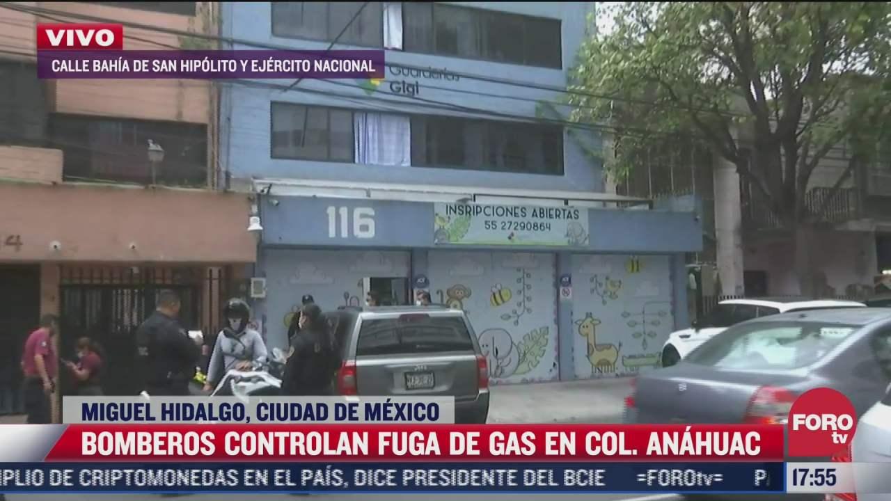 bomberos controlan fuga de gas en la cdmx