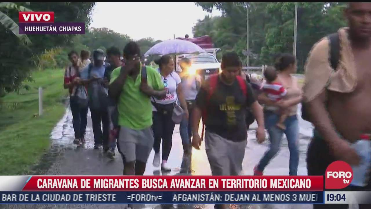 caravana migrante busca avanzar por territorio mexicano