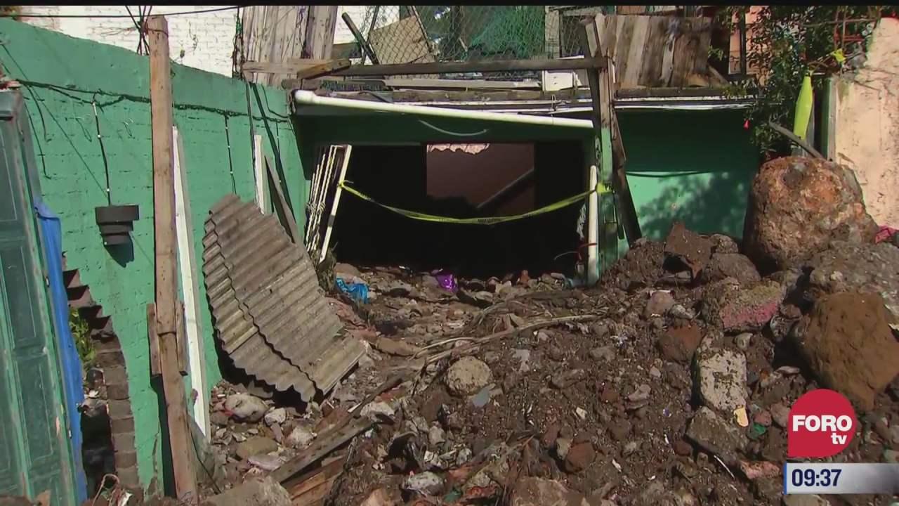 casa de familia vargas queda enterrada por inundaciones en ecatepec estado de mexico