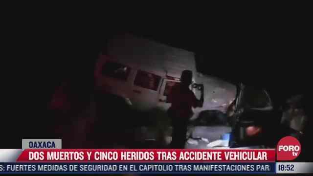 causa 2 muertos accidente carretero en oaxaca