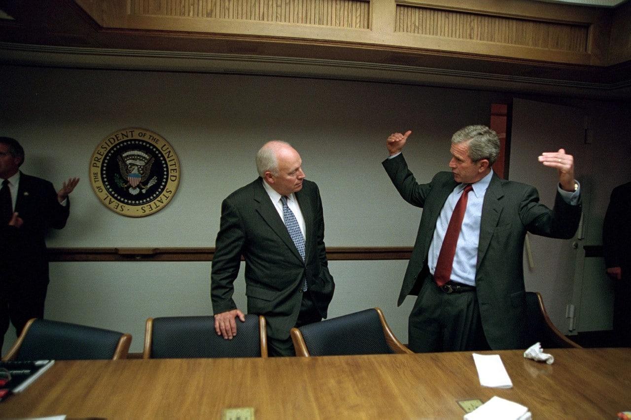 Dick Cheney, Donald Rumsfeld, George W Bush, 11 de septiembre, atentados terroristas