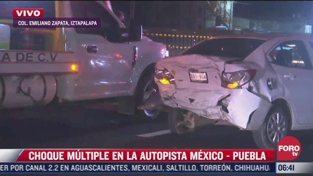 choque en la autopista mexico puebla deja una persona lesionada