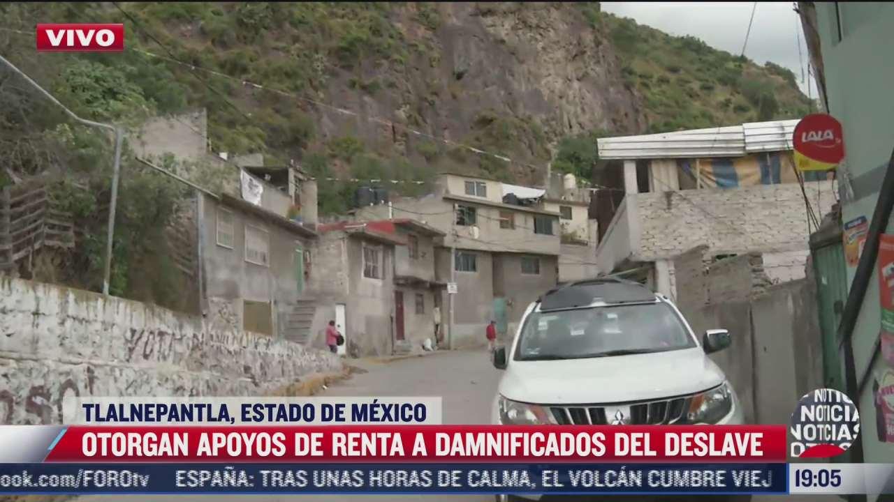 comienza entrega de apoyos de renta a damnificados del cerro del chiquihuite