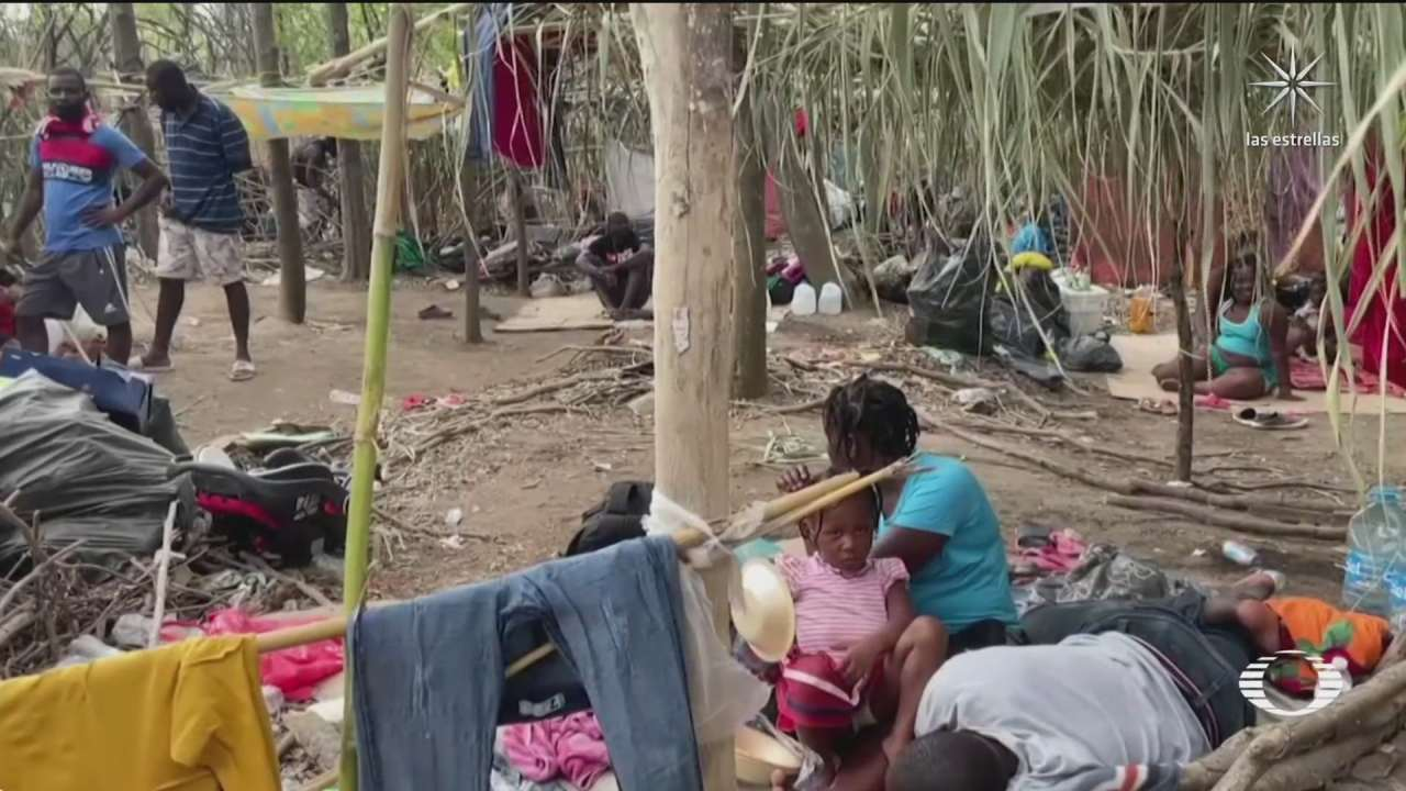 como se encuentra el campamento de migrantes haitianos ubicado en texas