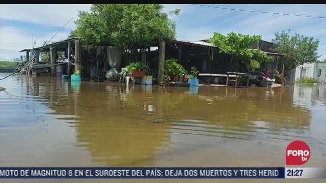 continuan afectaciones por inundaciones en chiapas