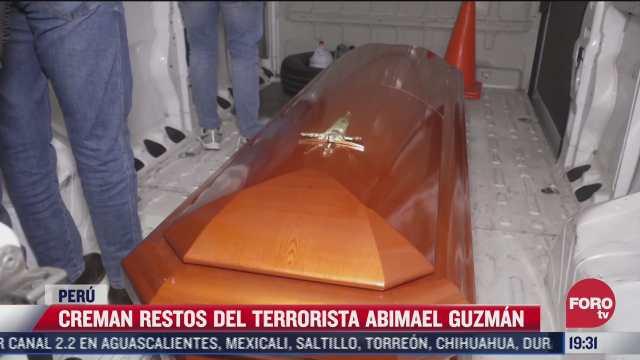 creman restos del terrorista abimael guzman