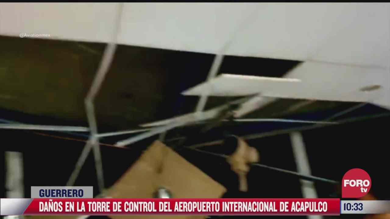 danos en la torre de control del aeropuerto de acapulco tras sismo