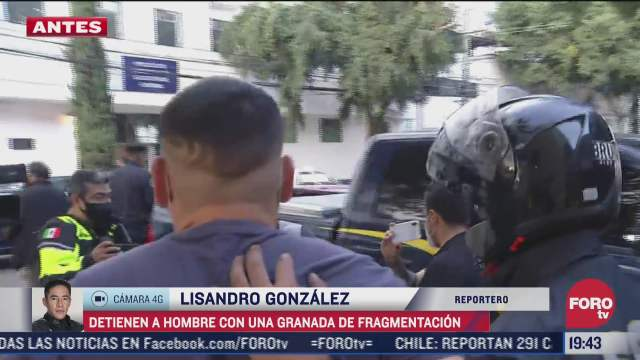 detienen a hombre en posesion de una granada en la gustavo a madero