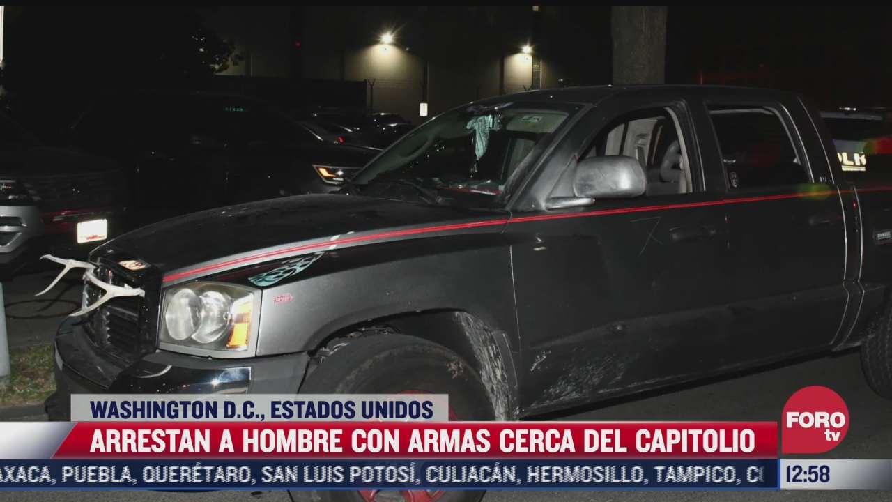 detienen a un hombre con machete y bayoneta cerca del capitolio de eeuu