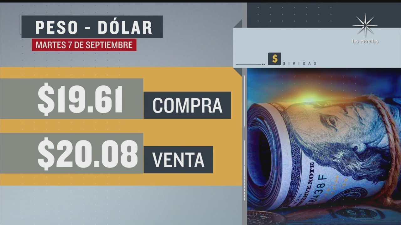 el dolar se vendio en 20 08 en la cdmx del 7 sep