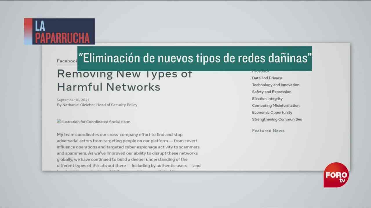 eliminacion de nuevos tipos de redes daninas en facebook la paparrucha del dia