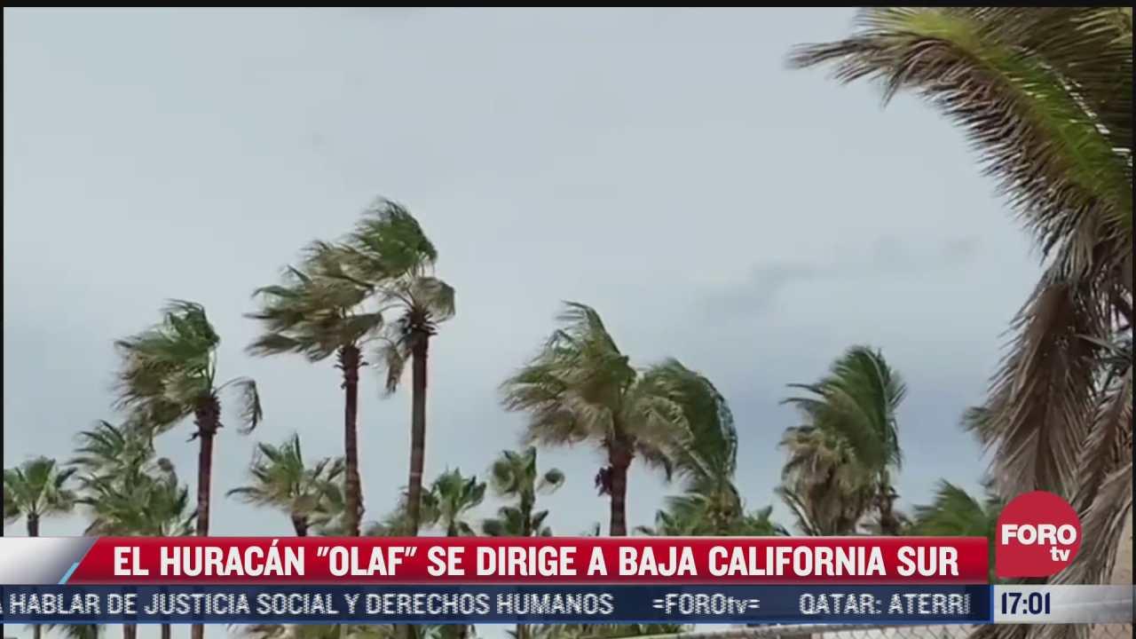 emiten alerta roja en baja california sur por el huracan olaf