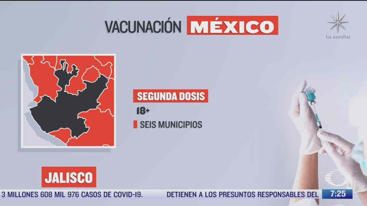 en que estados inicia la vacunacion covid hoy 24 de septiembre de