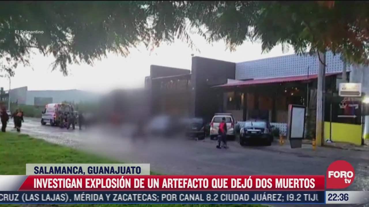 explosion de artefacto deja 2 muertos en guanajuato
