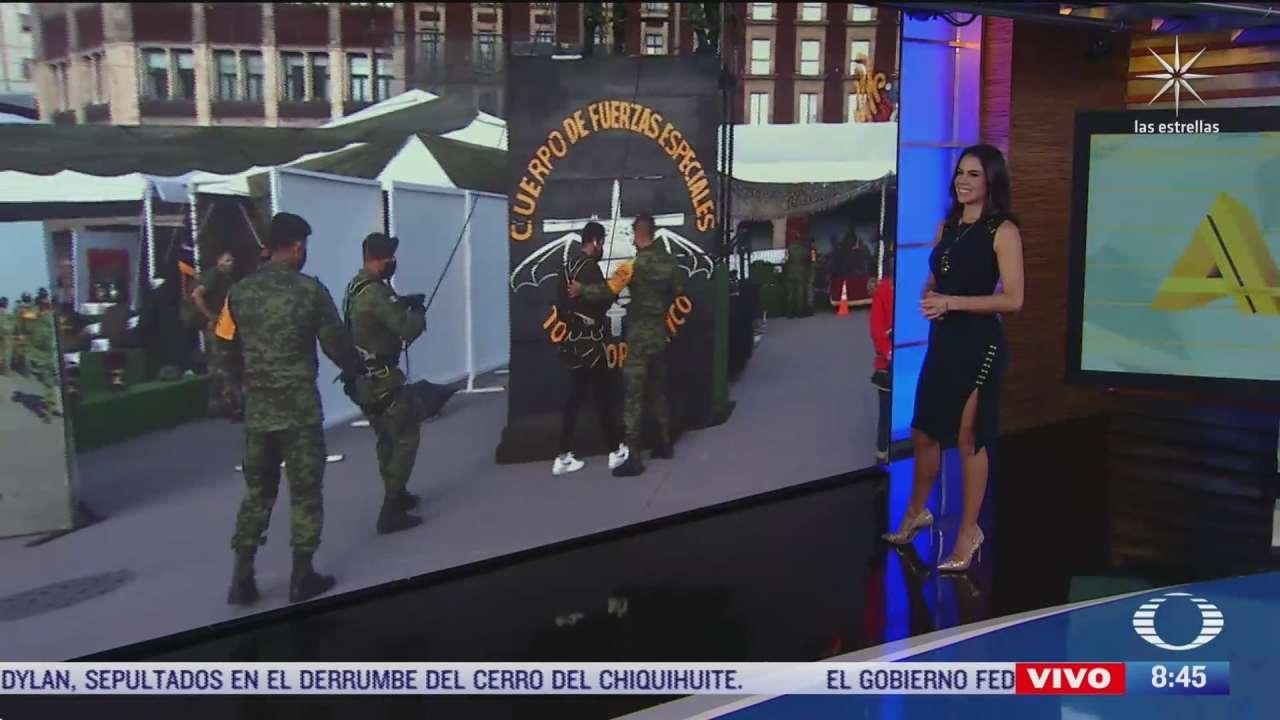 exposicion militar en el zocalo de la ciudad de mexico