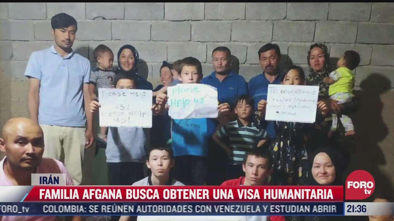 familia de afgano en mexico pide visa humanitaria