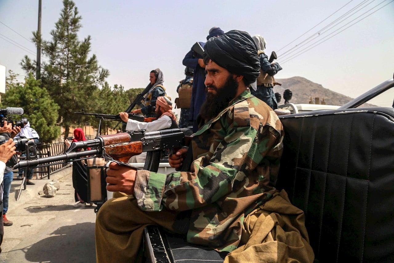 Fuerzas talibanas en Kabul.