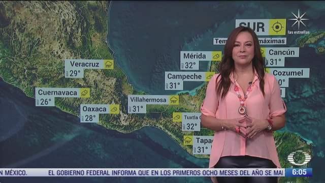 frente frio provocara lluvias en el oriente y sureste de mexico