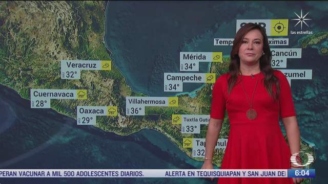 frente frio provocara lluvias fuertes en mexico