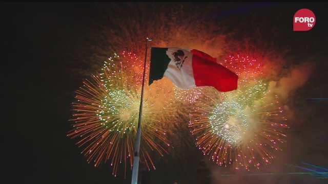 fuegos artificiales y popurri musical amenizan el grito de independencia
