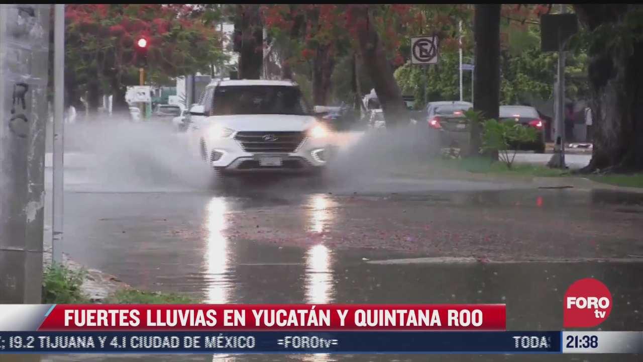 fuertes lluvias en yucatan y quintana roo
