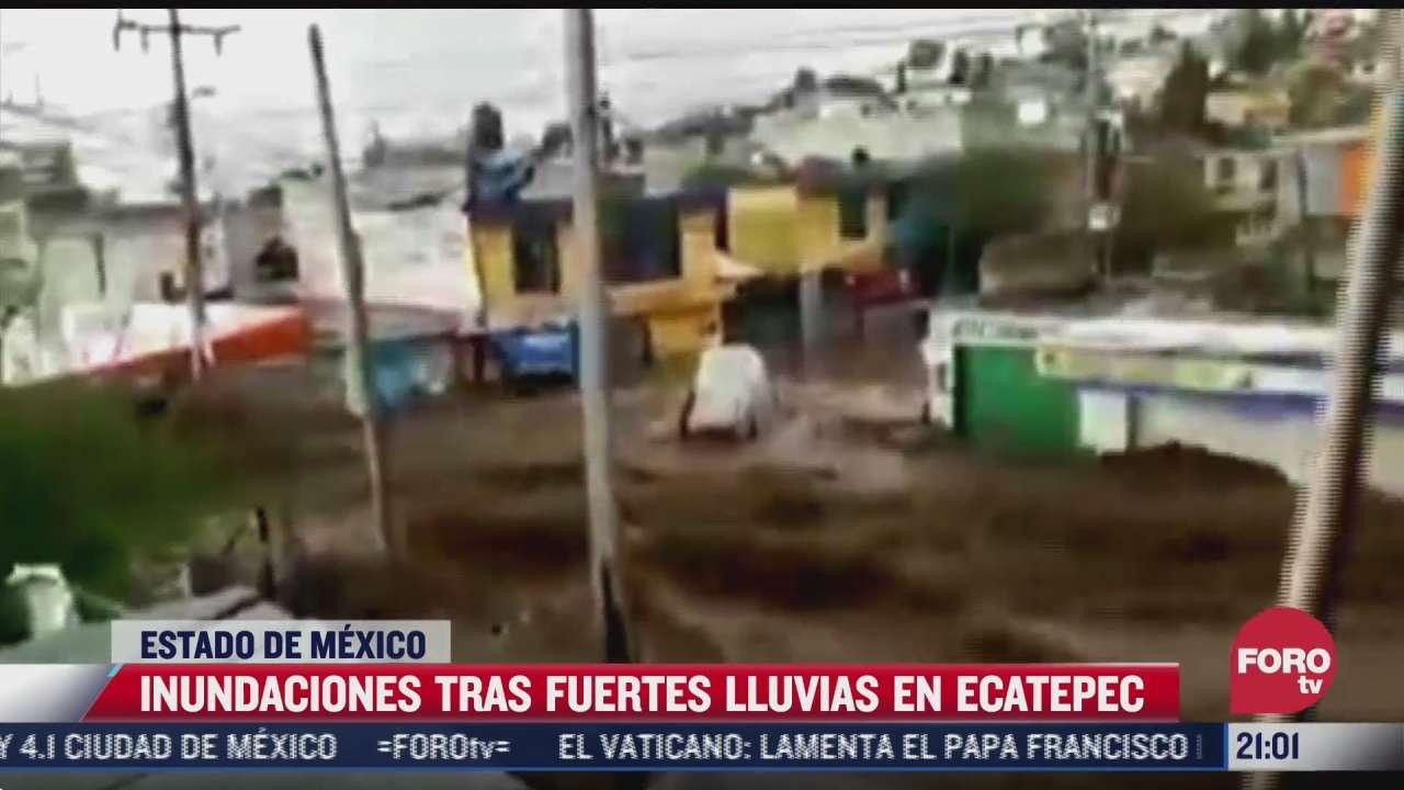 fuertes lluvias provocan severas inundaciones en ecatepec estado de mexico