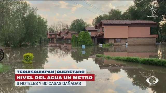 inundaciones afectan a tequisquiapan y san juan del rio queretaro