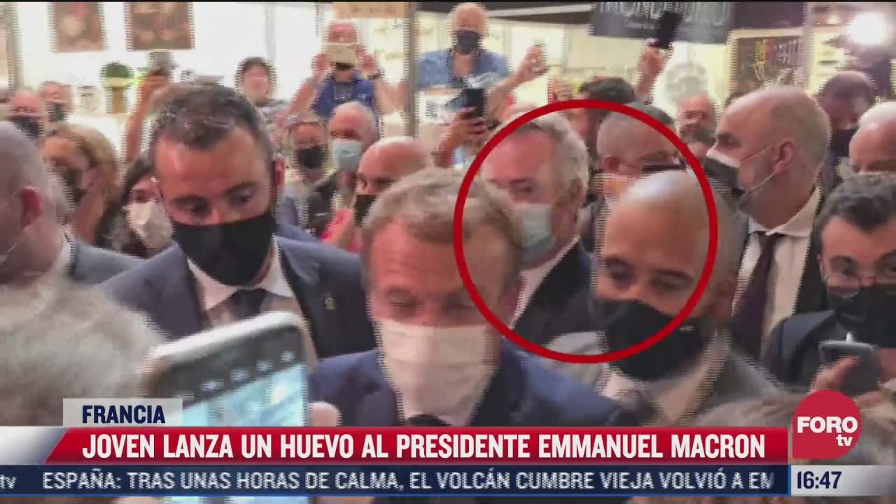 lanzan huevo al presidente de francia emmanuel macron