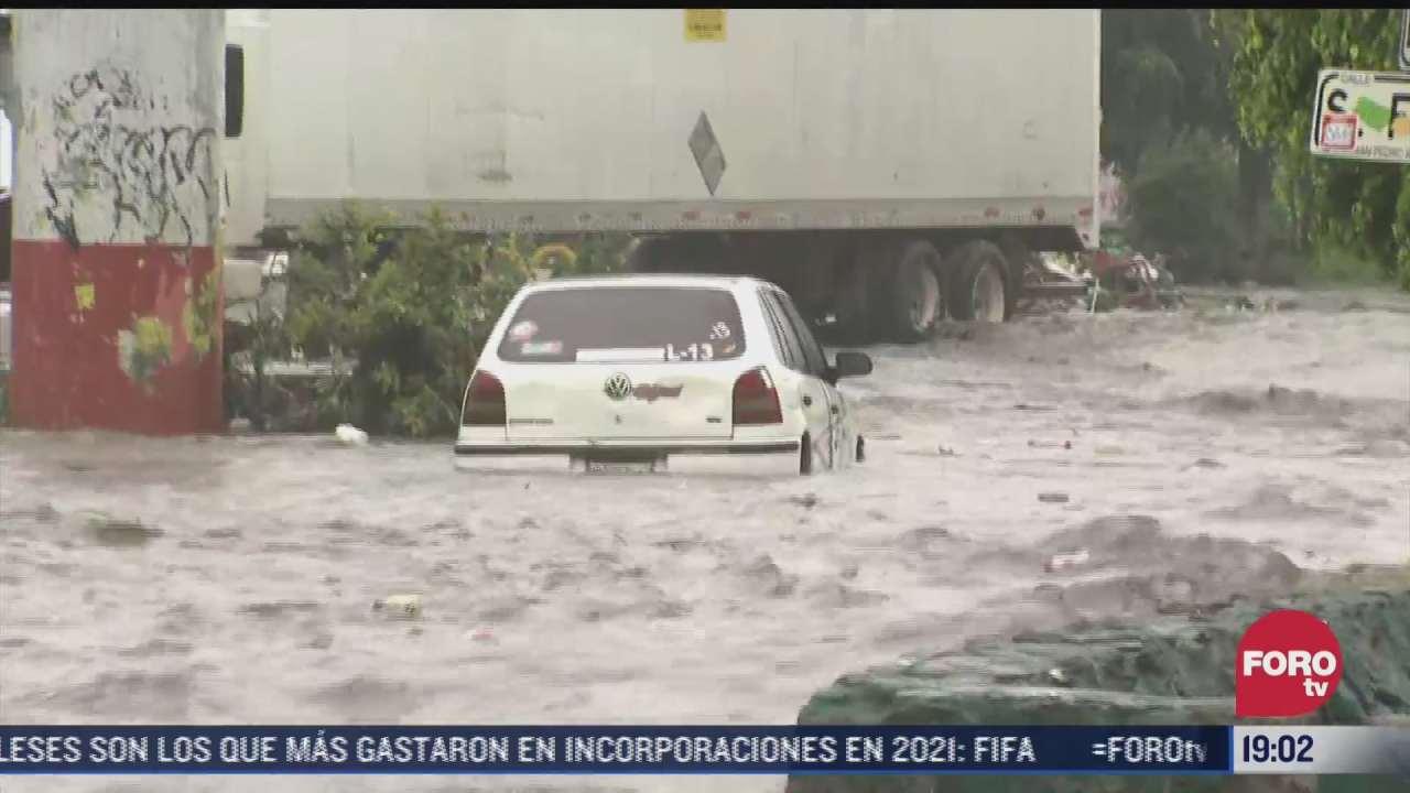 las lluvias no dan tregua en ecatepec en el estado de mexico